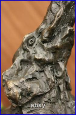 Rare Vintage Elephant Reading Bookend Bronze Hand Made Cast Iron Heavy Statue
