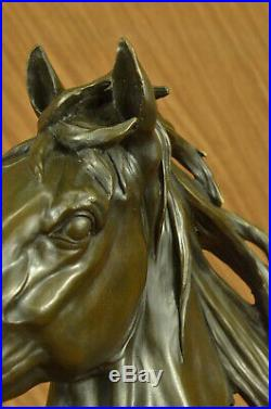 STUNNING Bronze Metal Bust/ Statue/Figurine Saddlebred Horse Hand Made Art Deal