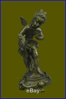 Sculpture children figurine bronze Hand Made fairy tale ornament garden Statue