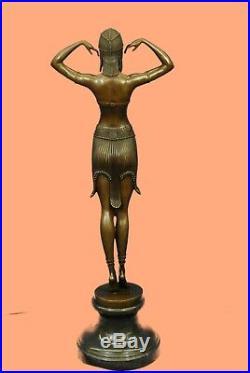 Signed D. H. Chiparus bronze statue, art deco dancer sculpture Hand Made Statue