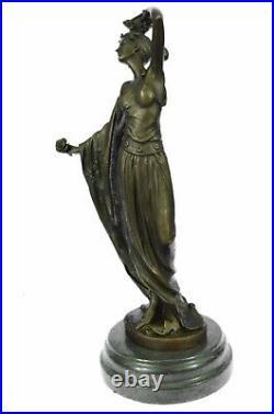 Signed Original Kassin A Tribute To Erte Bronze Sculpture Hand Made Figurine