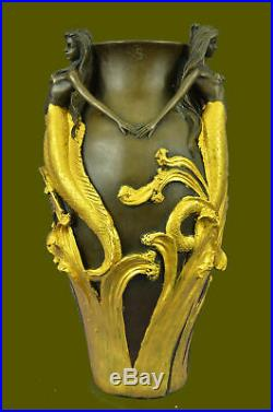 Signed Original MiloSexy Mermaids Vase Made by Lost Wax Sculpture Statue BB