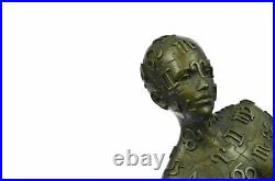 Signed Tribute to Dali Lady With Zodiac Outfit Bronze Sculpture Statue Hand Made