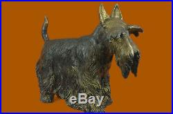 Solid Bronze Scottish Scottie Terrier Hot Cast Sculpture Hand Made Statue GIFT