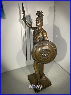Solid Bronze Statue Roman Soldier Warrior Sculpture Hand Made