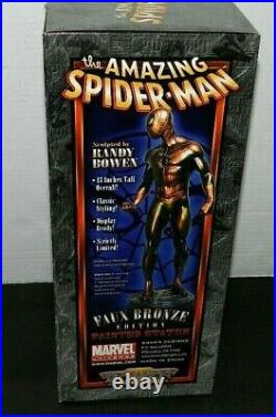 Spiderman Bowen Statue Faux Bronze Gem Only /500 Made New Sealed Gem Piece