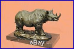 Stunning and Lifelike Bronze Rhino Sculpture Hot Cast Hand Made Statue Deal Art