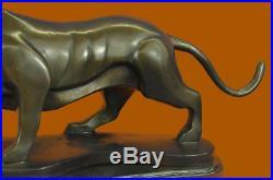 Tiger Safari Asian Wildlife Bronze Statue Hand Made Sculpture Figurine Figure NR