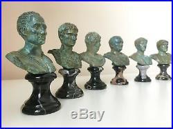 Trajan Bust Statue (Green Bronze) Made in Europe (4.7in / 12 cm)