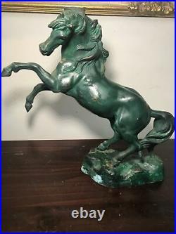 Unique bronze horse statue made in italy antique