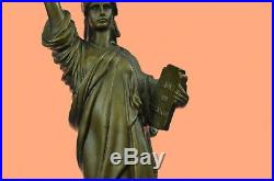Vintage 17.5 Bronze NYC Statue of Liberty Fisher European Finery Hand Made