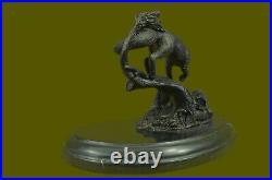 Vintage Bronze Metal Running Fox in Tux Statue Hand Made Sculpture Figurine Deal