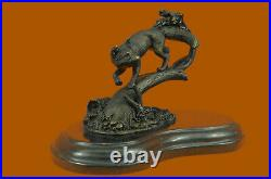 Vintage Bronze Metal Running Fox in Tux Statue Hand Made Sculpture Figurine SALE