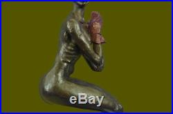 Vintage Numbered ART DECO Jester Lady Statue Made by Lost Wax Method METAL