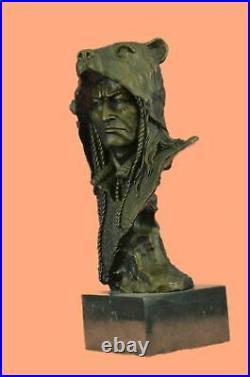 Western Art Native Indian Chief Hot Cast Hand Made Bronze Figurine Figure Statue