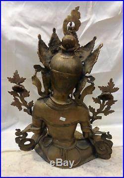 White Tara Bronze Statue 71cm 23 kg Hand made Nepal 27,9