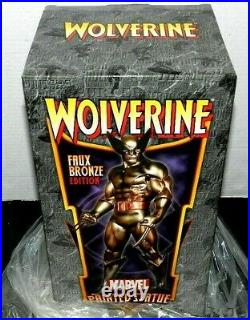 Wolverine Xmen Bowen Statue Faux Bronze Gem Only /300 Made New Sealed Gem Piece