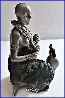 Wonderful Bronze African Woman's statue Africa Art Hand Made KENTON signed