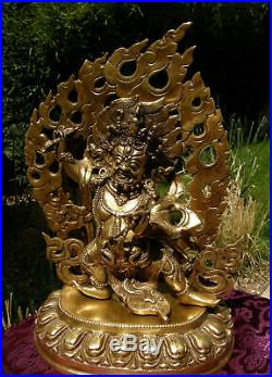 Wonderful Older Mahakala Statue Made from Bronze from Nepal 4,5 KG