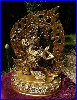 Wonderful Older Mahakala Statue Made from Bronze from Nepal 4,6 KG